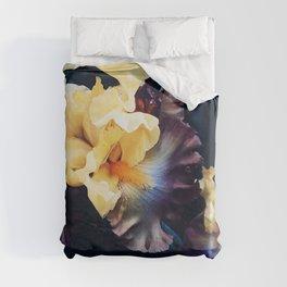 Golden Iris Duvet Cover