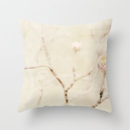 Winter's  whispers Throw Pillow