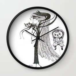 welcome home annabelle Wall Clock