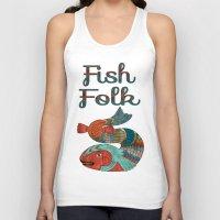 folk Tank Tops featuring Fish Folk by BohemianBound