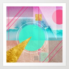 Shapes & Colors Geometric Abstract Art Print