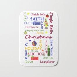 Christmas Message Bath Mat