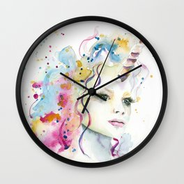 Unicorn Woman Wall Clock