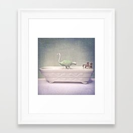 The Ostrich & The Bathtub  Framed Art Print