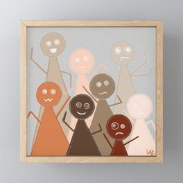 Different Person Different Perception Framed Mini Art Print