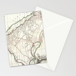 Vintage Map of Saudi Arabia (1771) Stationery Cards