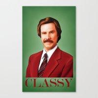 classy Canvas Prints featuring CLASSY by John Medbury (LAZY J Studios)