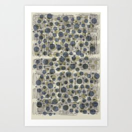 Soda Water Scribble Art Print