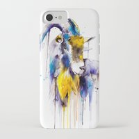 goat iPhone & iPod Cases featuring Goat  by Slaveika Aladjova