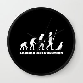 Labrador Evolution Wall Clock
