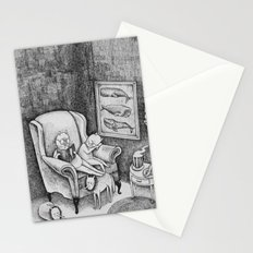 Whale Reader Stationery Cards