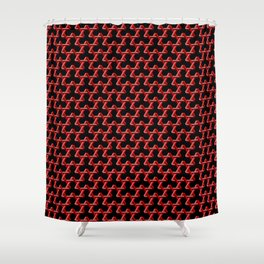 Impossible Red Triangles Shower Curtain