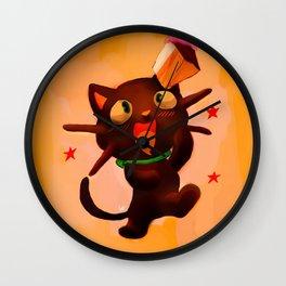 Choco Cat Wall Clock