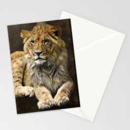 The young lion Stationery Cards