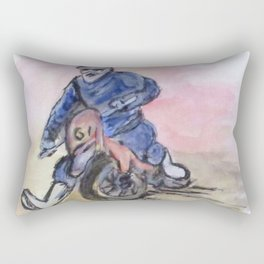 Dirt Bike Racer Rectangular Pillow