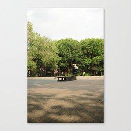 Skateboarding in Tompkins Square Park Canvas Print
