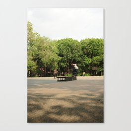 Skateboarding in Tompkins Square Park Canvas Print