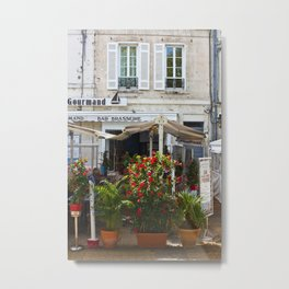 Brasserie in La Rochelle, France Metal Print