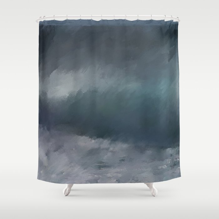 Blue Stormy Sea Shower Curtain by ivaw | Society6