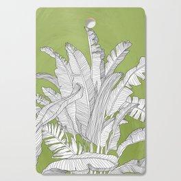 Banana Leaves Illustration - Green Cutting Board