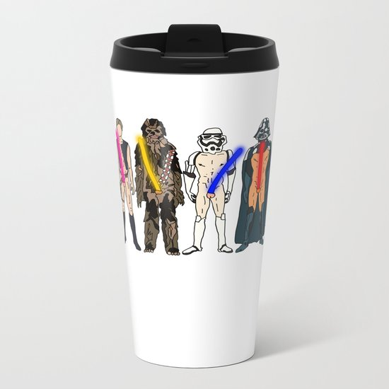 Naughty Lightsabers Metal Travel Mug