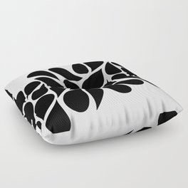 Small Abstract Black & White Foliage Pattern - Mix and Match with Simplicity of Life Floor Pillow