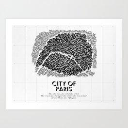 City of Paris Art Print