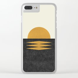 Sunset Geometric Clear iPhone Case