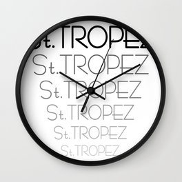 St. Tropez25 Wall Clock