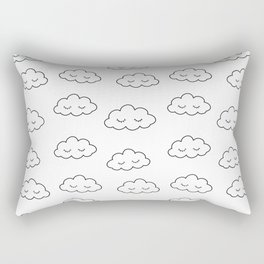 Dreaming clouds in black and white Rectangular Pillow