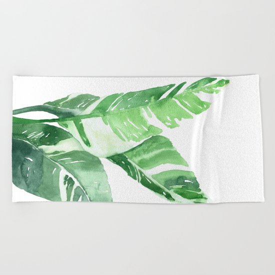 Leaves Beach Towel