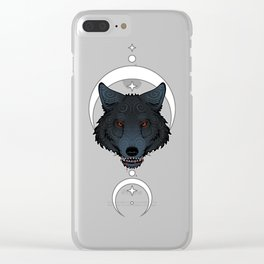 Wolf Tattoo Head Gift Embellishment Ornament Clear iPhone Case