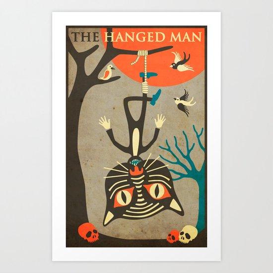 Tarot Card Cat: The Hanged Man Art Print