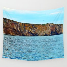 Le Rocher Perce panoramic Wall Tapestry