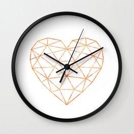 COPPER HEART (WHITE) Wall Clock