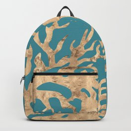 Blue gold corals Backpack