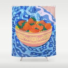 New Strawberries Shower Curtain