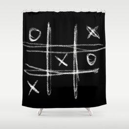 Tic-tac-toe Morpion Shower Curtain