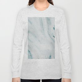 Teal Streaked Marble Long Sleeve T-shirt