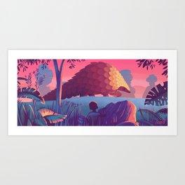 Last of The Giant Pangolins Art Print