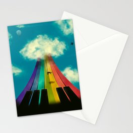 Seven notes, seven colors Stationery Cards