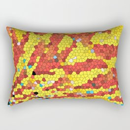 Yellow and red abstract Rectangular Pillow