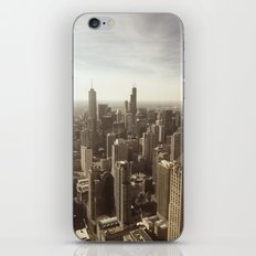 Chicago Buildings Sears Tower Sky Sun Color Photo iPhone & iPod Skin