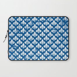 Fleur De Lis Neck Gaiter Blue Neck Gator Laptop Sleeve
