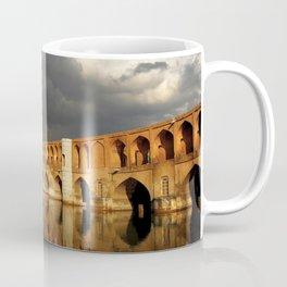World Popular Ancient Stone Bridge God Ray Sun Beam Cloudy Day Ultra HD Coffee Mug