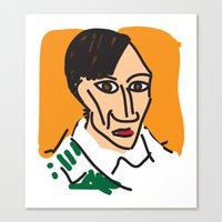 pablo picasso Canvas Prints featuring Picasso by John Sailor