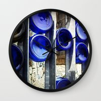 glass Wall Clocks featuring Glass by Blue Lightning Creative