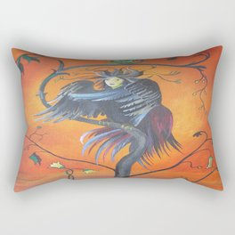 Gamaun The Prophetic Bird With Ruffled Feathers Rectangular Pillow