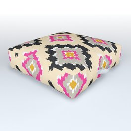 Boho Ikat Diamonds Outdoor Floor Cushion