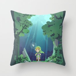 Master Sword and Monsters Throw Pillow